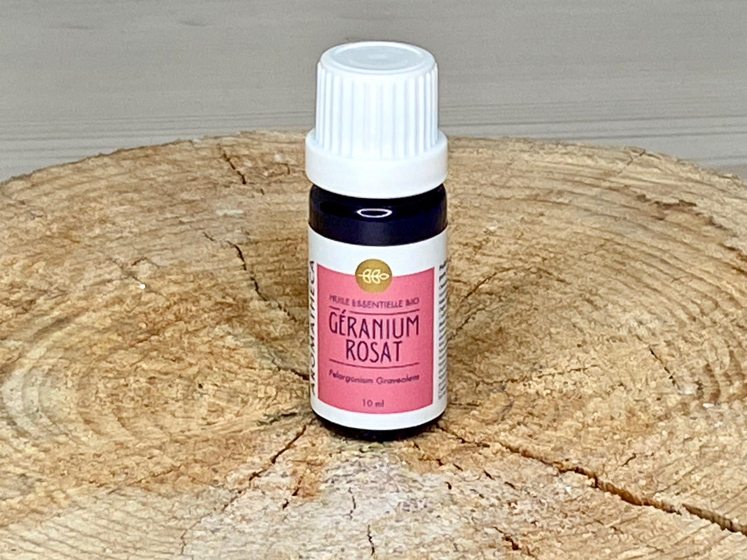 Huile essentielle bio géranium rosat